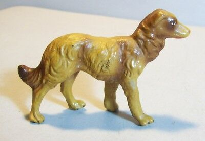 Old Composition Dog for Farm or Putz Village, Made In Italy