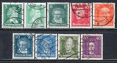 Germany Postage Stamps Scott 353-360, 9-Stamp Used Partial Set!! G1730d