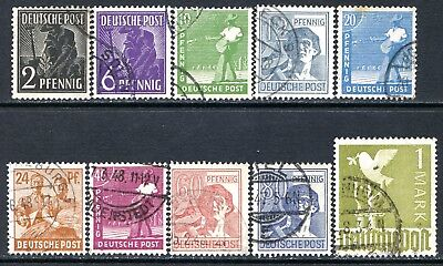 Germany Postage Stamps Scott 557-574, 10-Stamp Used Partial Set!! G1735c