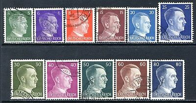 Germany Postage Stamps Scott 509-523, 8-Stamp Used Partial Set!! G1733b