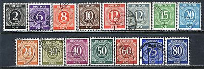 Germany Postage Stamps Scott 531-554, 15-Stamp Used Partial Set!! G1734a