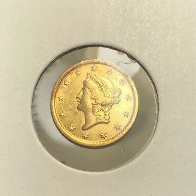1851-O Dollar Gold, $1 Gold Liberty,  New Orleans Mint