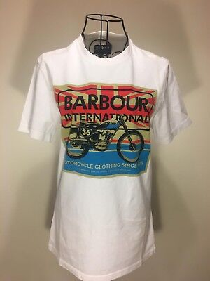 Barbour Steve Mcqueen T Shirt Motorcycle BNWT Size Small