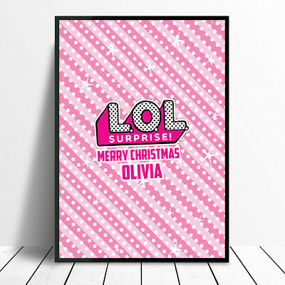 Personalised Christmas Lol Dolls Surprise Wall Art Print Poster Unframed Gift