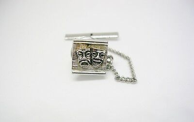 Theater Masks Tie Tack COMEDY TRAGEDY Tie Pin ancient Greek Theatre Symbols