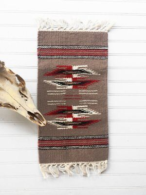 """Southwest Wool Table Rug/Taupe 10""""x20"""""""