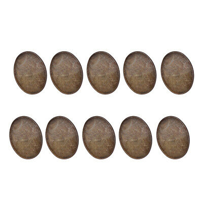 4x3cm Personalize Brooch Base Pin-Back Button Parts Blank Lapel Pin 10x