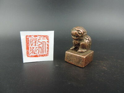 Japanese Old Copper Seal Japanese Office Kanji Wax Seal Stamp Signet Set G