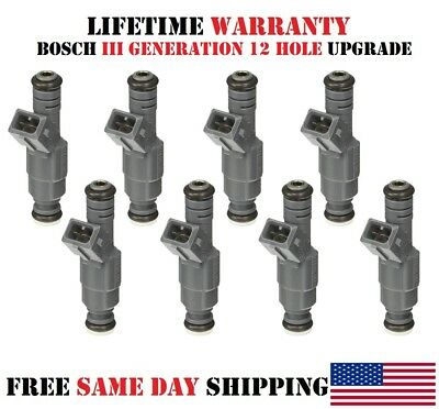 New 8pack OEM Bosch fuel injectors for Ford F-250 Super Duty 5.4L //P#0280150943//