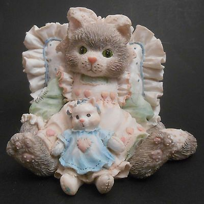 Calico Kittens Friends Are Cuddles of Love EUC 627976 Cat with Pillow & Doll
