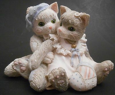 Calico Kittens The Purr-fect Love EUC 623539 Cat Couple Sitting Together Perfect