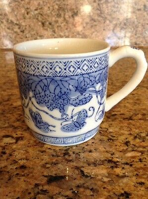 Vintage Blue & White Chinese Porcelain Cup