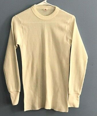 VINTAGE 80s Hanes Men's Thermal Shirt Size Large Made In USA
