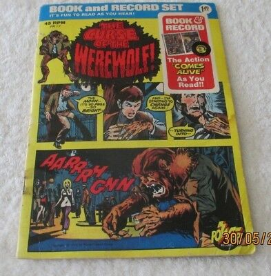 Vintage The Curse of The Werewolf Book and Record Set