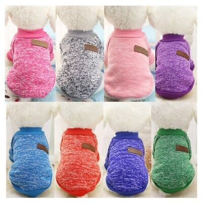 Dog Warm Knitted Sweater Puppy Coat Jacket T-Shirt Clothes Pet Apparel Chihuahua