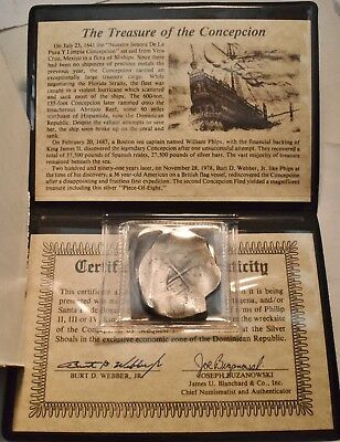 The Treasure of the Concepcion Shipwreck Spain 8 Reales Silver Old Spanish Eight