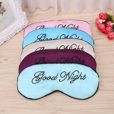 Newest Eye Mask Silk Soft Night Blinder Sleep Eyeshade Office Airplane SPA Home