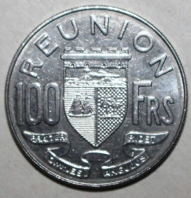 French Reunion 100 Francs Coin, 1964 - KM# 13 - One Hundred