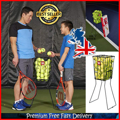 Wilson 75 Tennis Ball Basket 75 Balls Capacity No Balls Included Black One Size