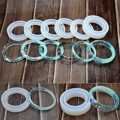 Large DIY Round Silicone Mould Mold Resin Curve Bangle Bracelet Jewelry Making