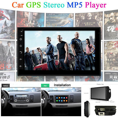 "7"" Android 7.1 2Din Car Stereo Radio Player GPS Navi BT Wifi OBD DAB DVB DVR TV"