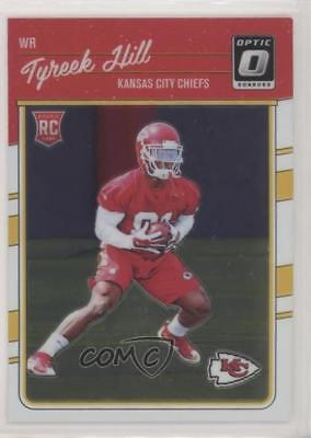 2016 Donruss Optic  117 Rookies Tyreek Hill Kansas City Chiefs Football Card ca7ee6d73