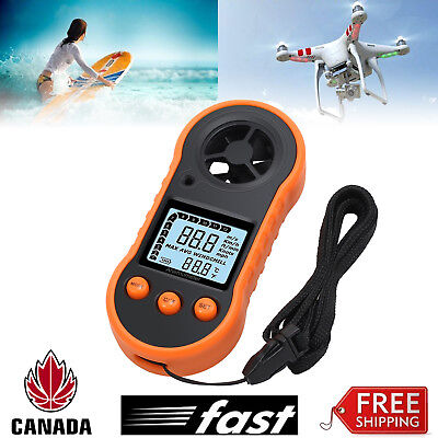 Digital Handheld Anemometer Wind Speed Meter Thermomoter For Sailing Surfing NEW