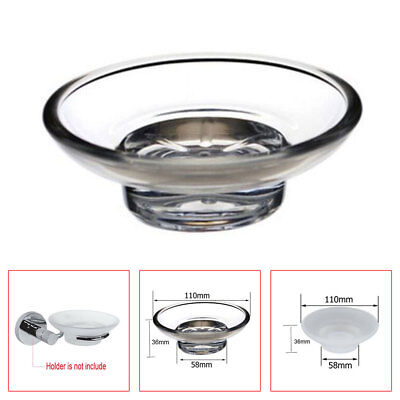 2x Dish Holder Accessory Replacement Universal Soap  Clear Spare For Bathroom