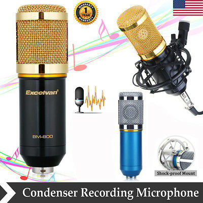 BM-800 Condenser Broadcasting Microphone Mic For Studio Recording w/ Shock Mount