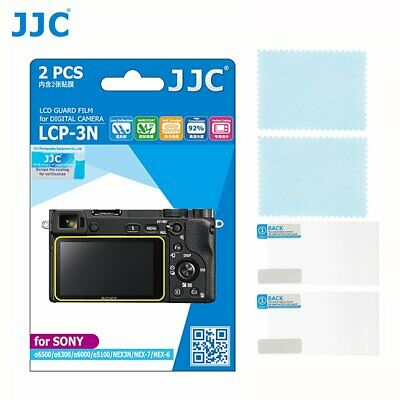 JJC Camera LCD Guard Film Screen Protector for Sony A6500 A5100 (Set of 2)