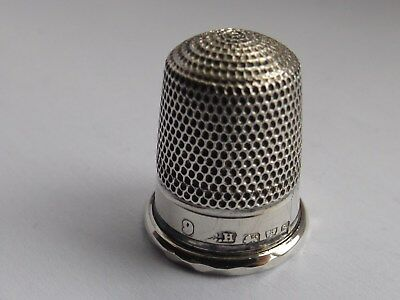 Charles Horner Solid Silver Thimble Chester 1915 Number 9 No Holes