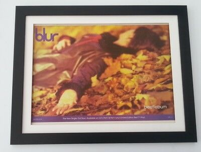 BLUR Beetlebum 1997*ORIGINAL*POSTER*AD*FRAMED*FAST WORLD SHIP