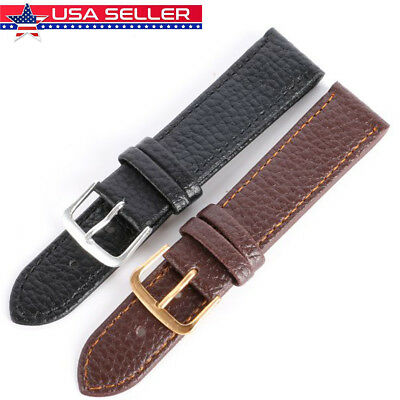 Unisex Genuine Leather Wrist Watch Band Strap Replacement12/14/16/18/20/22mm