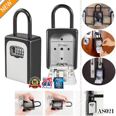 UK 4-Digit Combination Lock Key Safe Storage Padlock Security Home Outdoor AS021
