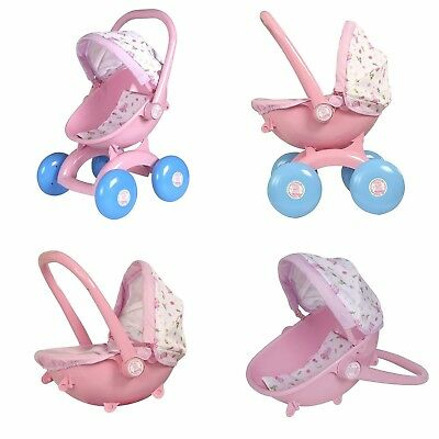 Peppa Pig Toy 4 in 1 My First Pram Dolls Pushchair Carry Cot Baby Seat NEW