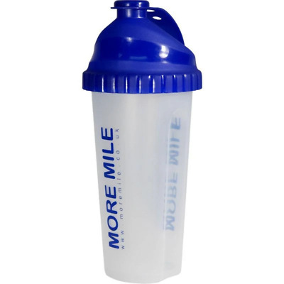 More Mile 650ml Large Protein Shaker Mixer Bottle Gym - Royal Blue