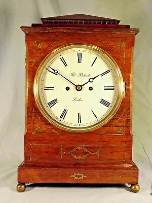 Early 19c Rosewood Double Fusee Bracket Clock C1830.