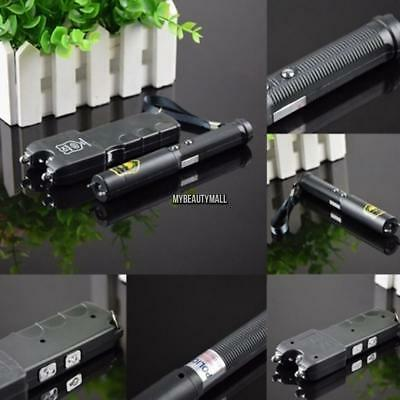 Electro Self-Defense Electric Shock Wand Tricky Toy with LED Flashlight MY8L 02