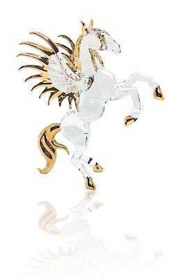 Pegasus Horse Color Hand Blown Blowing Glass Art Animals Cute Collectibles Fancy