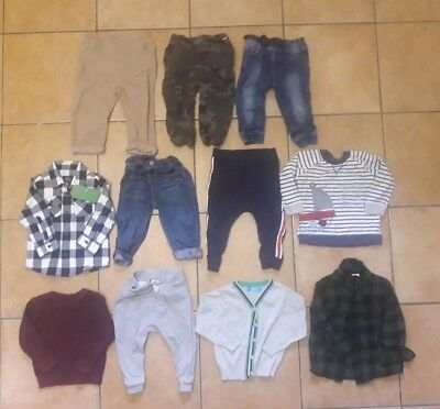 Baby Boys clothes jumpers bottoms jeans shirts Bundle 9-12 Months(Listing B19)