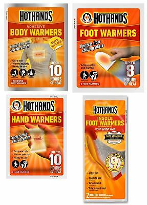 Hot Hands Insole Warmers, Foot Warmers, Hand Warmers, Body Warmers, Full Range