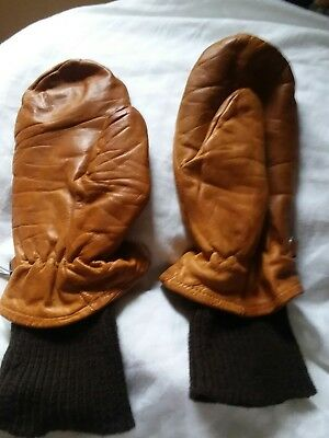 Vintage Leather Mittens M