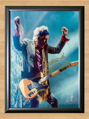 Keith Richards The Rolling Stones Signed Autographed A4 Poster Photo Memorabilia