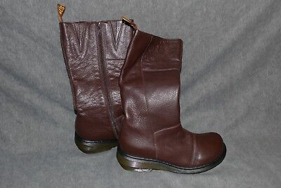 Tall Brown Leather Side Zip Boots