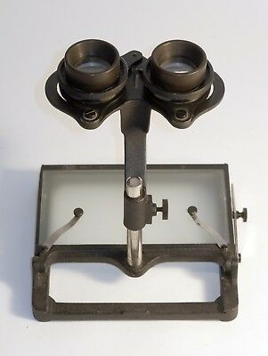 Vintage tabletop Carl Zeiss Jena 3D Stereo Viewer. Mapping Film or Stereo Cards