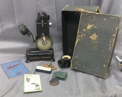 Antique Old France Pathex French Film Movie Camera Projector in Box w/ Extras