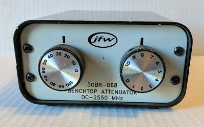 JFW 50BR-068 Benchtop Attenuator DC-2550 MHz **FREE SHIPPING USA**