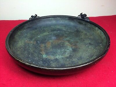 """Antique Chinese Bronze Censer 11-1/2"""" Possibly Ming or Japanese Meiji Old Beauty"""