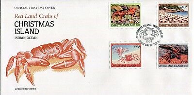 Christmas Island 1984 Red Land Crabs FDC