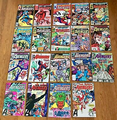 Lot of 19 The Avengers + The Mighty Avengers + Marvel Super Action Comic Books